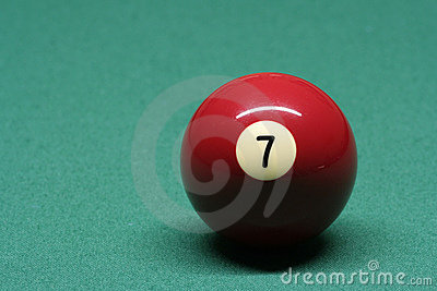Pool ball number 07