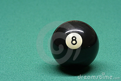 Pool ball number 08