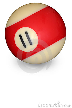 Free Pool Ball Number 11 Stock Image - 3229131