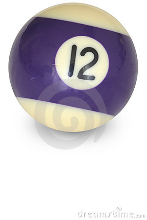 Free Pool Ball Number 12 Royalty Free Stock Photography - 3229337