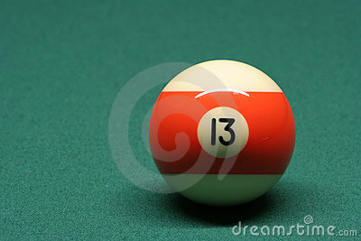 Pool ball number 13