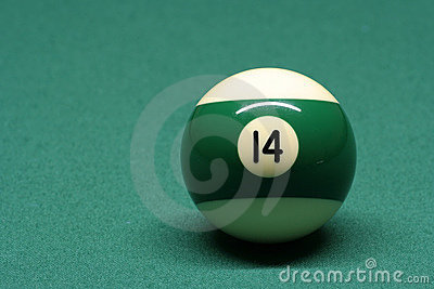 Pool ball number 14