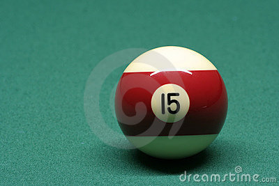 Pool ball number 15