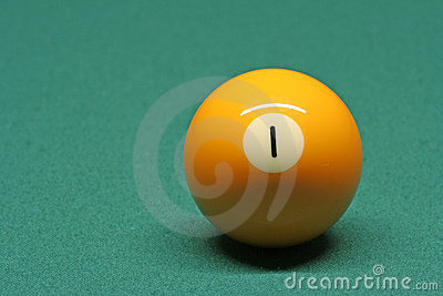 Pool ball number