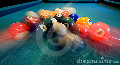 Pool Balls Breaking