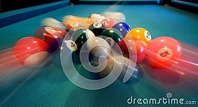 Pool Balls Breaking