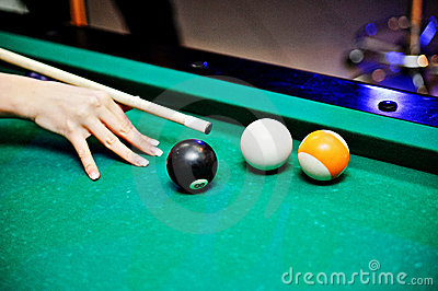 Pool Billard shoot