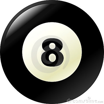 pool or billiard eight ball vector illustration