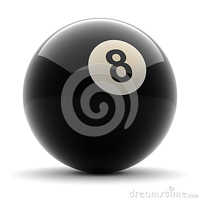 Free Pool Black Ball Number Eight Royalty Free Stock Photo - 26992355