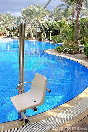 Pool chair for disabled
