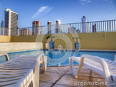Pool in condominium
