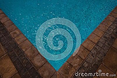 Pool Corner Tiles Water