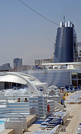 Pool deck cruise ship