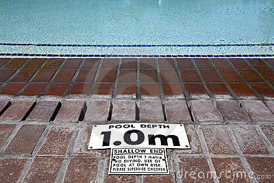 Pool depth sign