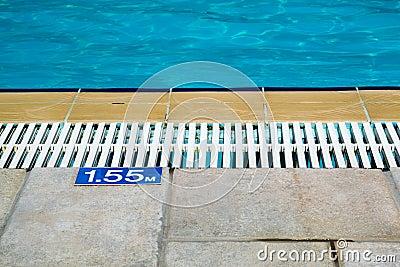 Pool Depth Sign Stock Photo Image 43896799