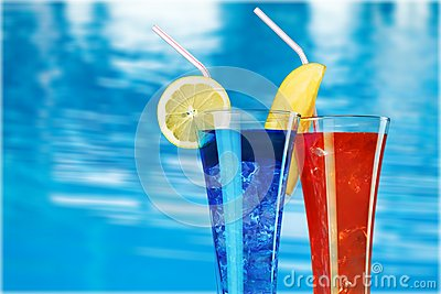 Pool drinks Stock Photo