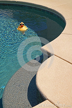 Free Pool Ducky Royalty Free Stock Image - 41699246
