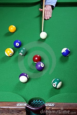 Free Pool Game And Balls Royalty Free Stock Photos - 6187648