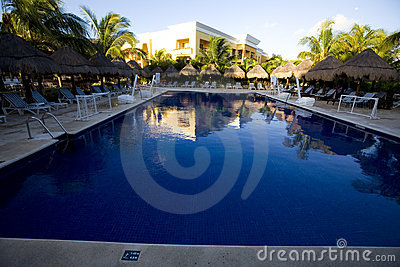 Pool at luxury resort in Mexico