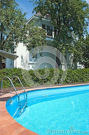 Pool near the house