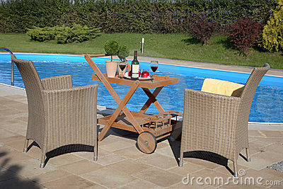 Pool Patio Stock Photos - Image: 2945433