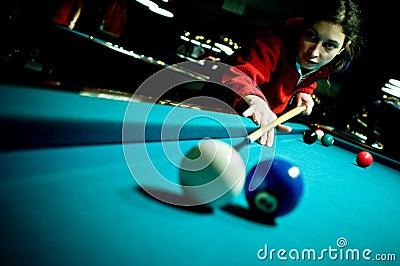 Pool player