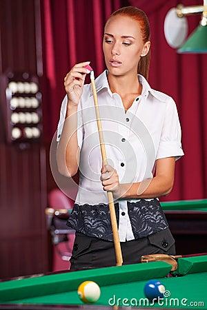 Pool player.