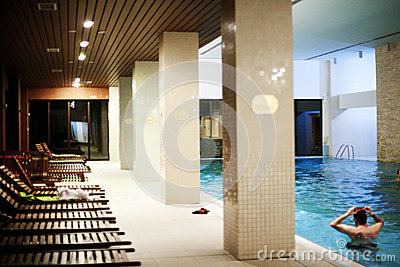 Pool in the spa center