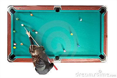 Pool table from above