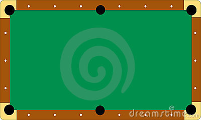 Pool table without balls