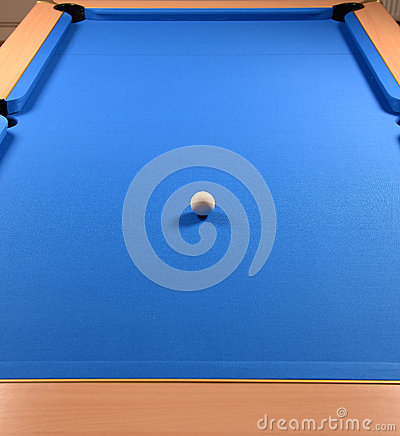 Pool table and cue ball
