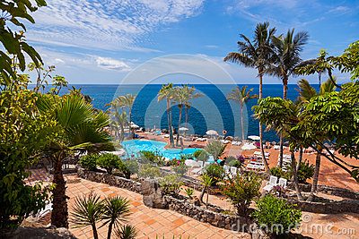 Pool at Tenerife island - Canary