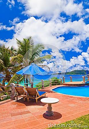 Pool at tropical beach