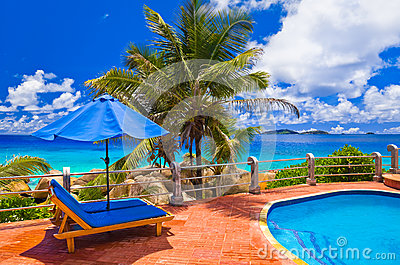 Pool at tropical beach