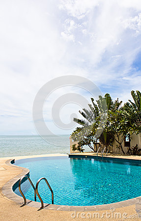 Pool on a tropical beach