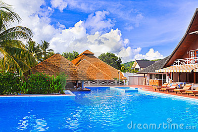 Pool at tropical island