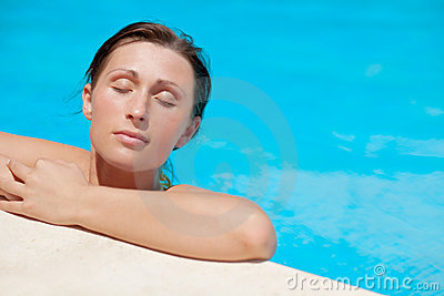 Pool Woman Royalty Free Stock Photography - Image: 10627047