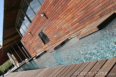Pool & Wood Stock Image - Image: 6311091
