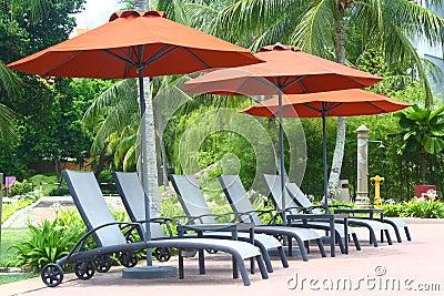 Poolside Deckchair