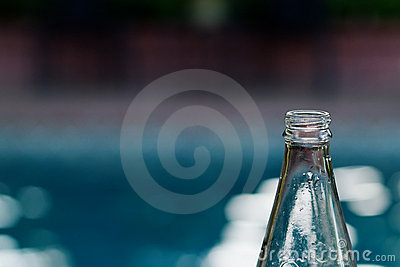 Poolside glass bottle