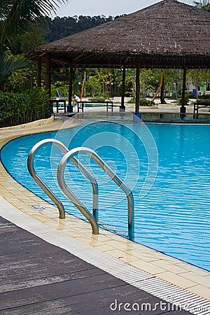 Poolside at Harris Resort, Batam Island, Indonesia
