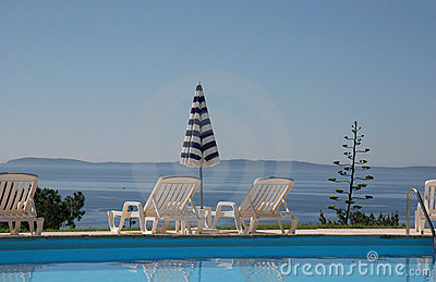 Poolside at le lavandou, french riviera