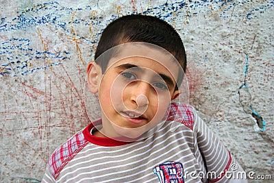 A poor boy portraits