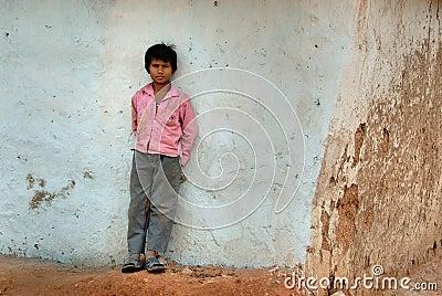 Poor Children Editorial Stock Image