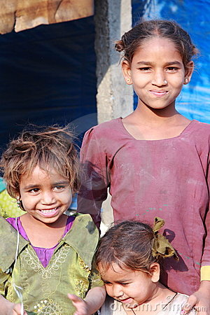 Poor Children in India Editorial Stock Image