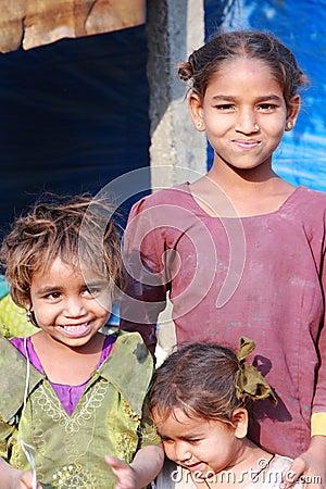 Poor Children in India Editorial Stock Image