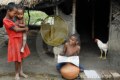 Poor Children in India Editorial Image