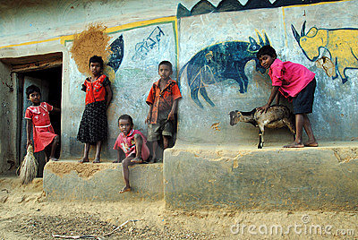 Poor Children in India Editorial Photography