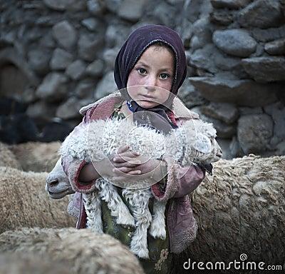Free Poor Girl From Upper Shimshal Village Stock Images - 46656884
