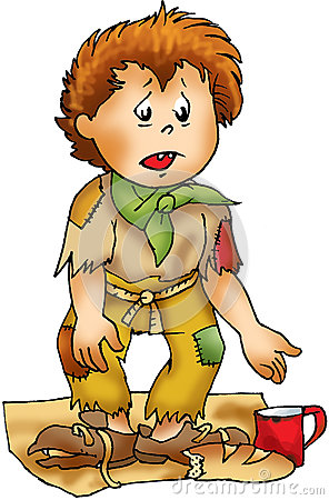 Poor Homeless Boy Character Stock Illustration - Image: 61249959
